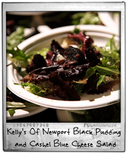 Cashel Blue Cheese and Kelly's Of Newport Black Pudding Salad