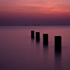 four sticks (s k o o v) Tags: sunset square purple 100v10f volcanic guernsey vazon nd110 sharingart skoov slightlylongexposure
