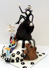 Nightmare before Christmas Cake (dragosisters) Tags: christmas cake jack tim sally nightmare burton befor