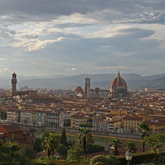 Florence view (lathuy) Tags: italy sun clouds florence italia tuscany firenze toscana nuages toscane nationalgeographic vecchio mygearandme