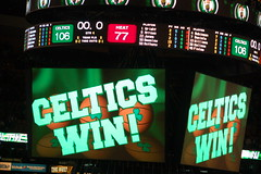 Basketball Playoffs 2010: Boston Celtics host Miami Heat at the TD Garden, 20 April 2010 (Chris Devers) Tags: sunset game building sports hockey basketball boston ma nhl evening championship twilight sundown miami dusk stadium massachusetts arena playoffs bruins bostonbruins nba bostonma bostongarden fleetcenter celtics 2010 miamiheat bostonist tdbanknorthgarden bostonceltics universalhub tdgarden cameranikond50 exif:exposure=001sec1100 exif:exposure_bias=0ev exif:focal_length=105mm exif:aperture=f56 lens18200vr exif:flash=noflash camera:make=nikoncorporation camera:model=nikond50 meta:exif=1271827388 flickrstats:favorites=1 exif:orientation=horizontalnormal exif:lens=18200mmf3556 exif:filename=dscjpg exif:vari_program=auto exif:shutter_count=42451 meta:exif=1350398816