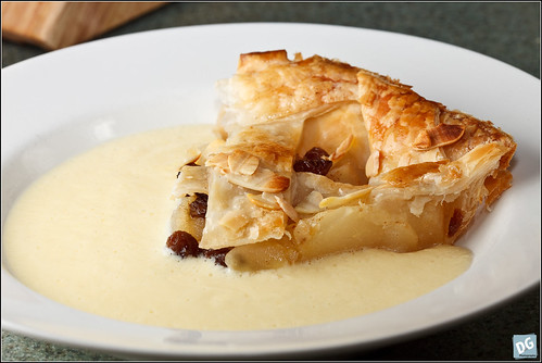 Pear Strudel and Custard