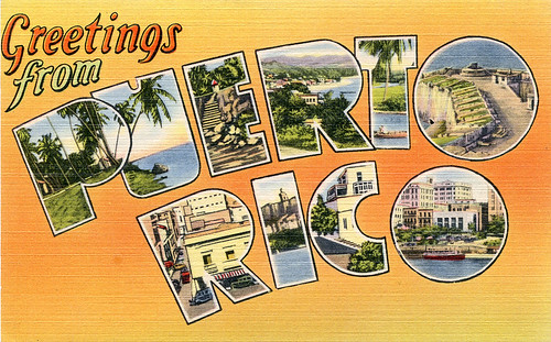 Greetings from puerto rico large letter postcard a photo on greetings from puerto rico large letter postcard m4hsunfo