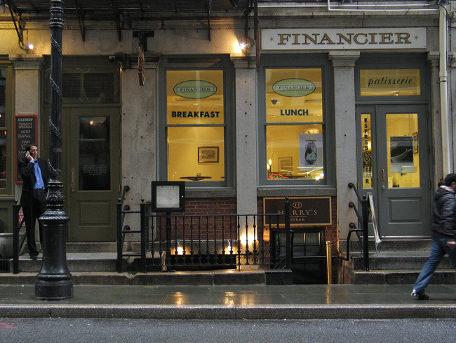 Financier, on Stone Street NYC