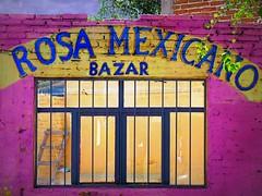not-so-busy bazaar (msdonnalee) Tags: pink pinkwall pinkstucco adobe magenta window janela finestre ventana ladder bazaar bazar mexicanstorefront mexico mexiko mexique photosfromsanmigueldeallende fotosdesanmigueldeallende emptystore mxico messico   i rosa facciate   larqitecture architektur arqitetura