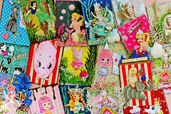Aceo Madness!!! (boopsie.daisy) Tags: ocean sea elephant silly cute bunny art atc collage marie vintage mixed media doll candy circus assemblage ooak inspired cotton mermaids antoinette bubblegum mermaid bunka aceos