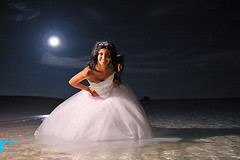 Moonlight Wedding (muha...) Tags: wedding moon holiday beach water beautiful pose fun nikon moonlight mm maldives weddingphotography 2470 muhaphotoscom trashthedress nikon2470mm nikond700 nostrobistinfo weddingpose removedfromstrobistpool seerule2