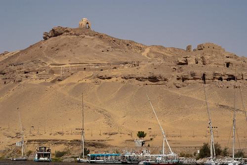 Aswan Felucca ride - Monastary of St Simeon