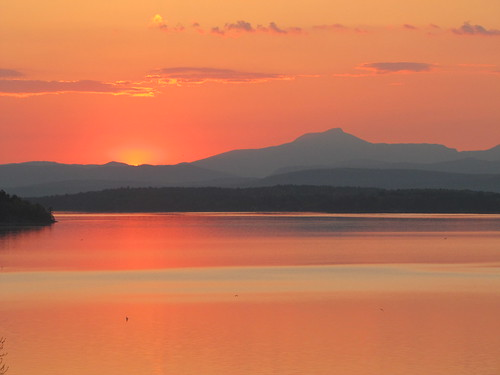 sunrise over Lake Champlain