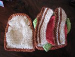 Handknit BLT Sandwich - Play Food **AUCTION**
