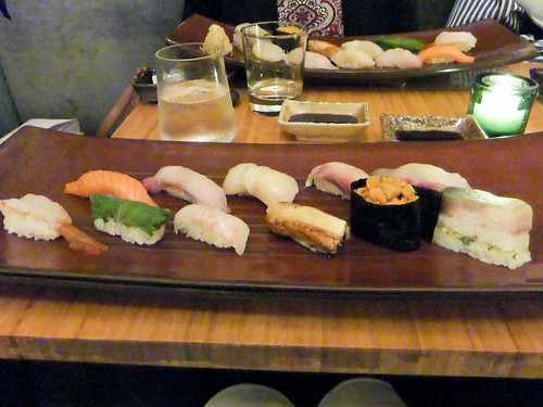 Platter of Traditional Sushi, Jewel Bako