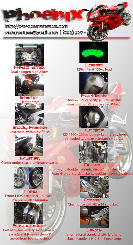 PHOENIX 150cc / 200cc detailed specification 4583703040_393a6f8bc6_b