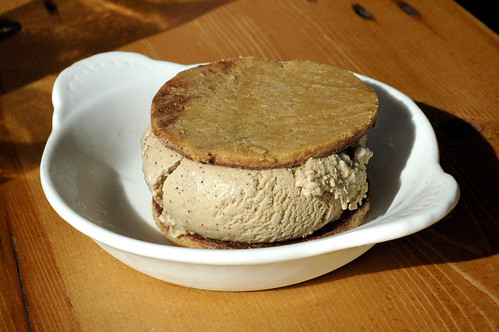 Espresso Ice cream sandwich with PB cookies