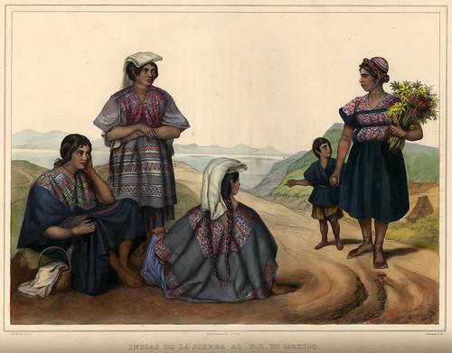 015-Indias de la Sierra al Sureste de Mexico-Voyage pittoresque et archéologique dans la partie la plus intéressante du Mexique1836-Carl Nebel