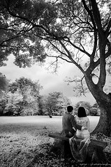 moment with you...... (yoga - photowork) Tags: portrait people blackandwhite tree love canon indonesia lens ir couple canon350d infrared romantic 1022mm prewedding digitalinfrared infraredphotography inspiredbylove efs1022mmf3545usm trasognoerealt flickrclassique