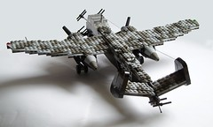 Heinkel He-219 Uhu (4) (Mad physicist) Tags: germany lego aircraft wwii heinkel ww2 nightfighter