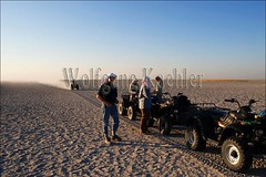 10065594 (wolfgangkaehler) Tags: africa people tourism person desert african dry tourist vehicle atv botswana quadbiking saltpan kalaharidesert jackscamp dryclimate makgadikgadisaltpan foorwheeler