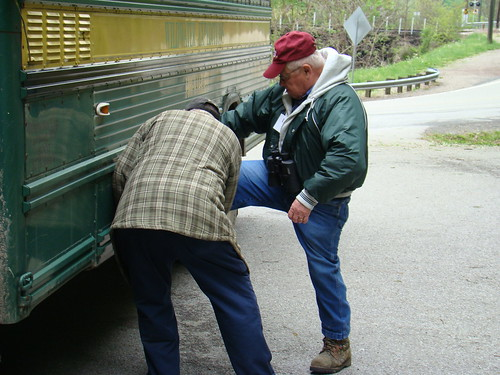 Larry and Gerald fix the bus