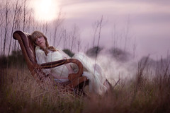 Dreamland (Sarah Ann Wright) Tags: sunset field chair raw dusk smoke dream explore smoky rocking frontpage dreamland fieldofdreams iphotooriginal girlinfield thisisthetitleofanxfilesepisodegeekytriviad