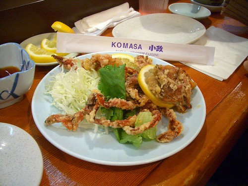 Komasa fried softshell crab