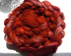 July 8, 2009 ~ 5oz Shetland Humbug dyed by me