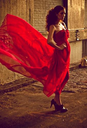 Leanne Marshall - red dress