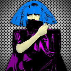 POP GAGA (Village9991) Tags: fashion monster lady ball star itunes romance pop mp3 record dots judas gaga aac bornthisway ladygaga graphicmaster ladygagamosaic edgeofglory heavymetallover