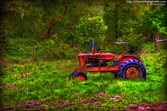 A Tractor at Bobolink Dairy