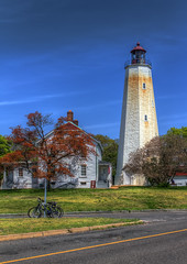 Parked Bikes (Danny Rotondo Photography) Tags: lighthouse newjersey jerseyshore hdr forthancock