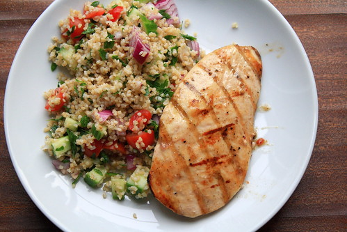 Grilled Chicken with Tabbouleh Salad