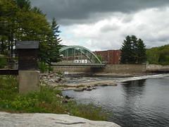 Rumford, Maine (Dougtone) Tags: park bridge building mill wheel statue waterfall downtown maine newengland paulbunyan babetheblueox rumford androscogginriver rumfordfalls 051610