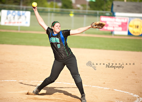 Sara Moulton Pitching against Apple Valley