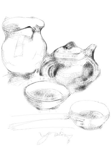 ipad 速描 - 茶具