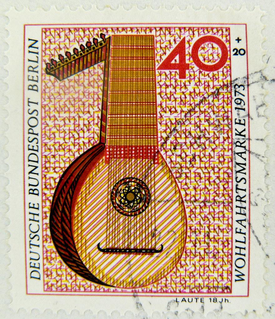 stamp music Musik guitare Gitarre postage deutschland germany stamp bollo frankatur francobollo timbre selo Briefmarke porto