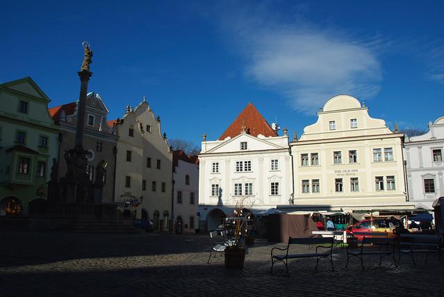 Cesky Krumlov 庫倫諾夫:舊城廣場 Old Town Square的早晨