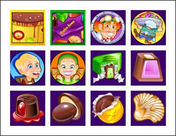 free Chocolate Factory slot game symbols