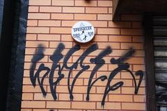 (Lip Talk) Tags: street nyc urban art graffiti sticker manhattan live tag hipster obey talk kelp batman lip slap tagging trade rwk ccb bubu eltoro combo irak robotswillkill auzy liptalk