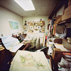 My office (art y fotos) Tags: 120 6x6 mediumformat hawaii office oahu handmade maps selfportraits bamboo pinhole homemade honolulu bambole manoa universityofhawaiiatmanoa hamiltonlibrary kodak160portranc lebambolemkii