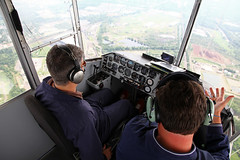 blimp pilots (dougschneiderphoto) Tags: above usa landscape flying newjersey spring aviation nj aerial blimp airship dirigible snoopyone