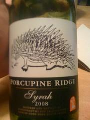 2008 Porcupine Ridge Syrah