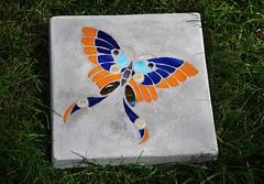 butterfly stepping stone (Bella Art Mosaics) Tags: butterfly garden butterflies steppingstones