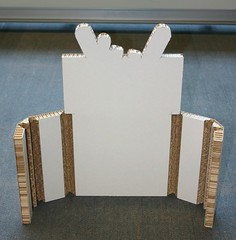 Bevel-cut X-Board Print showing mitre folds