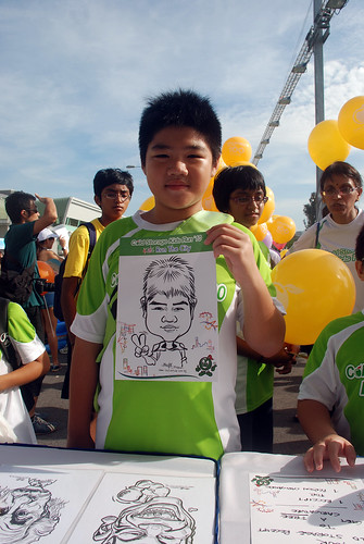 caricature live sketching for Cold Storage Kids Run 2010 -b