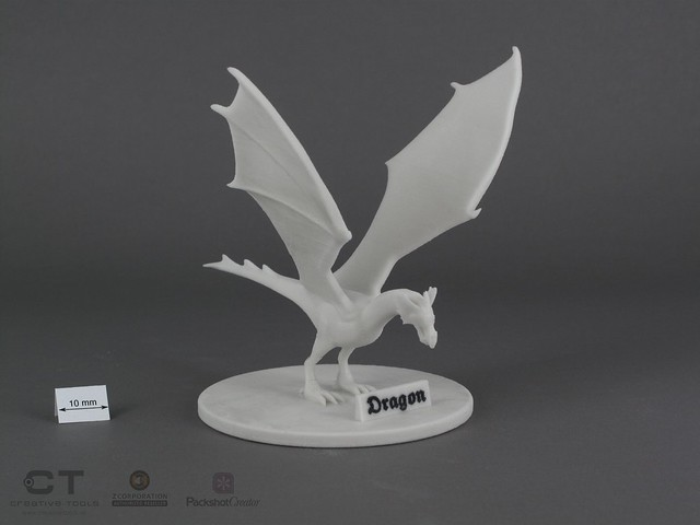 CreativeTools.se - PackshotCreator - 3D printed dragon model