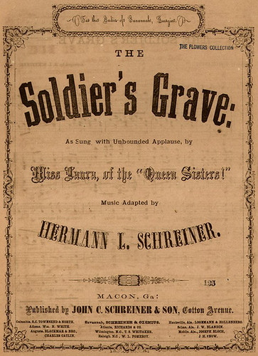 "1860's-Historic American Sheet Music, ""The Soldier's Grave"", Conf. Music #368, Duke University Rare Book, Manuscript, and Special Collections Library"