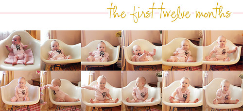 Eleanor's Monthly Photo (The First Twelve Months)