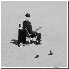The Invisible Man (Cristina Negrini) Tags: barcelona street travel bw man art invisible bn espana parcguell spagna surrealismo surreale bwartaward ringexcellence