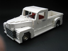 "1949 Chevrolet 3100 Thriftmaster custom ""White Rat"" (r a p h y) Tags: white chevrolet rat lego evil 1949 ratrod 3100 thriftmaster yyeeaahh showrod"