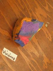 Preschool Art Show (Her Earth rock)