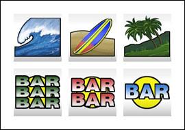 free Surf Paradise slot game symbols